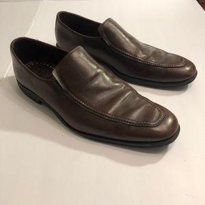 Men's Allen Edmonds Brown Leather Loafers 11